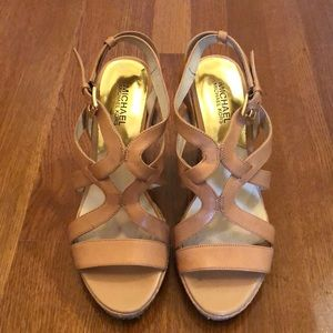 Michael by Michael Kors Wedge Strappy Sandals 9